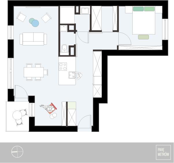 apartament dla pary